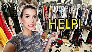 EXTREME CLOSET DECLUTTER + ORGANIZING *post apocalyptic*