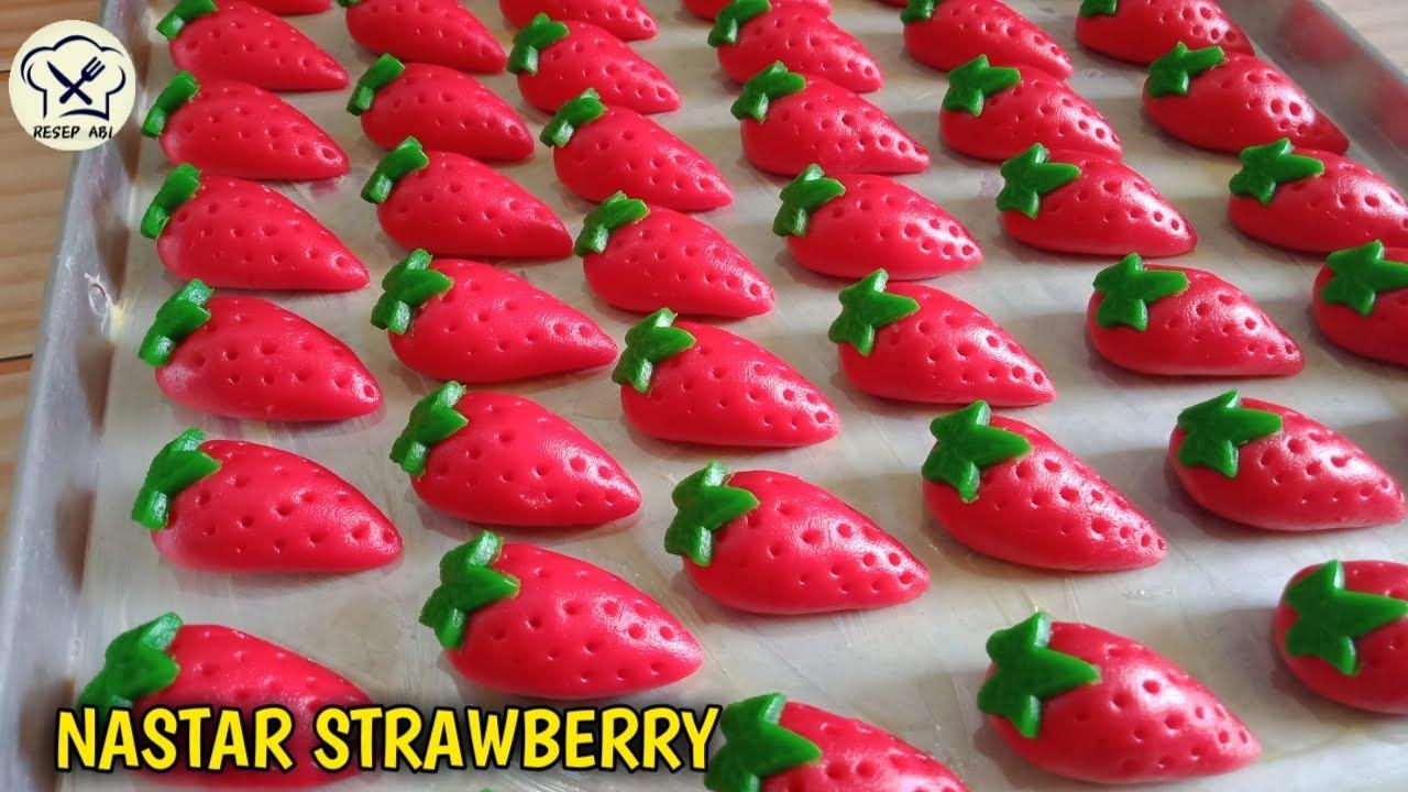 Kue Kering Lebaran 2021 Nastar Karakter Strawberry Bentuk Unik Dan Cantik Youtube