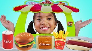 Wendy Pretend Play w/ Mini Super Fast Food Restaurant Shop Play Set mp3