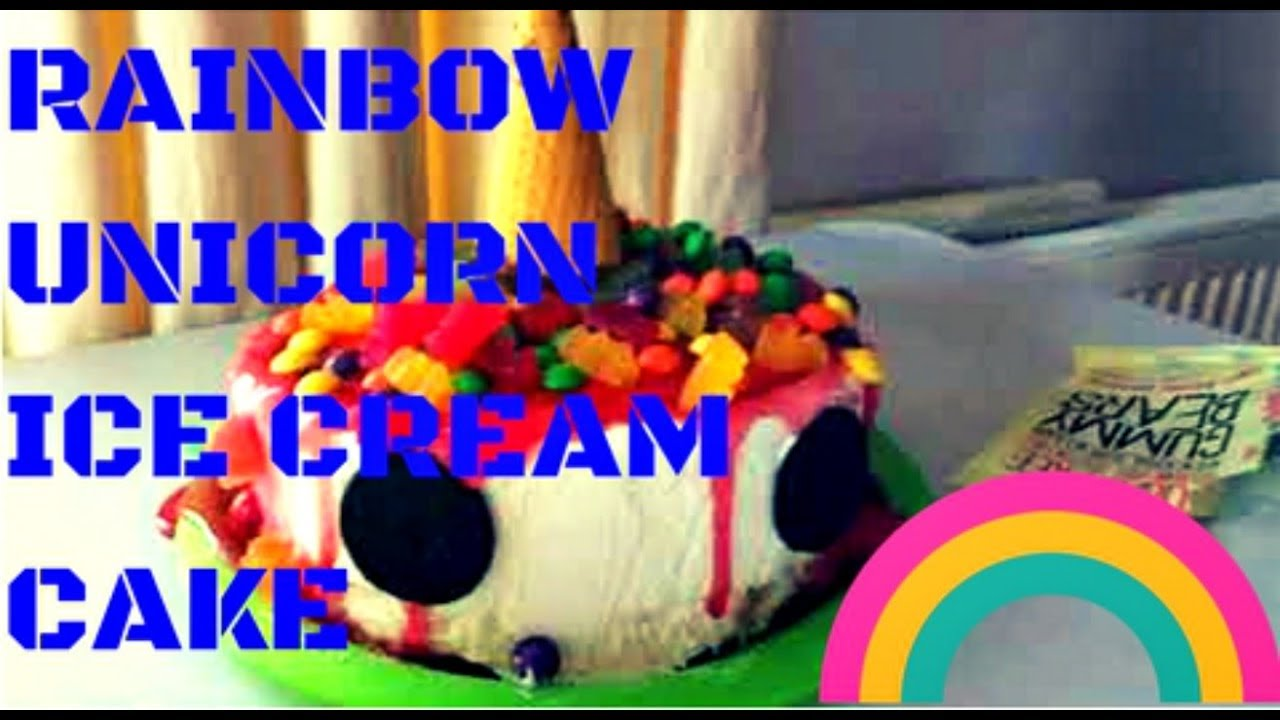 RAINBOW UNICORN ICE CREAM CAKE Vegan Epic Meal Time Parody