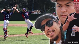 SOFTBALL CREW AT GABE'S BASEBALL GAME! | Kleschka Vlogs
