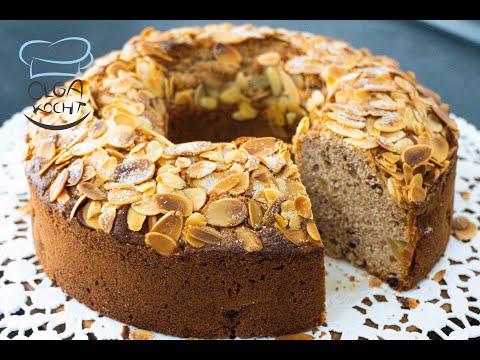 Apfel Kuchen mit Zimt und Mandeln - Springform