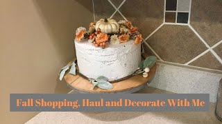 FALL SHOP, HAUL, AND DECORATE WITH ME 2019 | FALL DECORATING IDEAS | Decorate With Dana