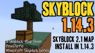 How to get Skyblock Map for Minecraft 1.14.3 - download & install Skyblock 2.1 in 1.14.3