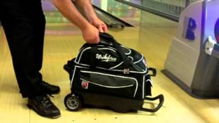 KR Lane Rover 2 Ball Double Roller Bowling Bag Product Video by Bowlerstore.com