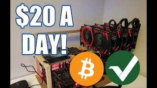 DAY 1 MINING CRYPTOCURRENCY WITH  3 GTX 1070! VERTCOIN/BITCOIN