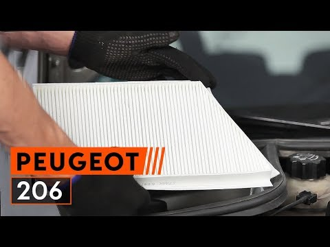 How to replace a pollen filter on PEUGEOT 206 [TUTORIAL AUTODOC]