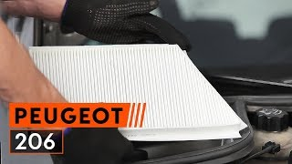 Replacing Air conditioner filter on PEUGEOT 206: workshop manual