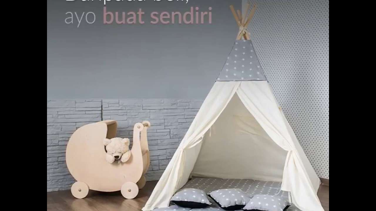 DIY Teepee Tent : Buat Sendiri Tenda Mainan Anak di Rumah