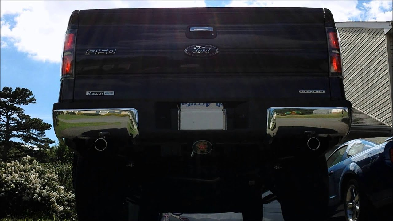 2013 F150 5.0 Stock Exhaust VS Flowmaster American Thunder ...
