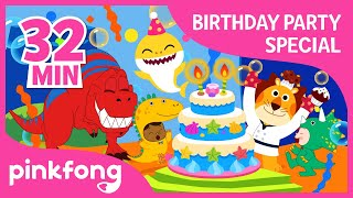 Baby Shark's Birthday and more | Party Playlist | +Compilation | Pinkfong Songs for Children