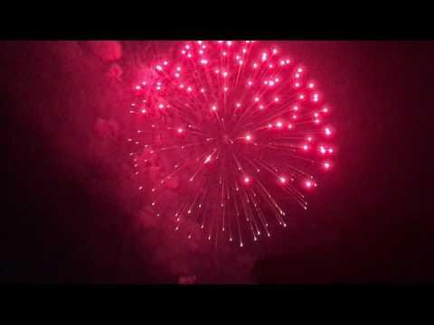 Newton, Massachusetts Fireworks 4th of July 2017 #3
