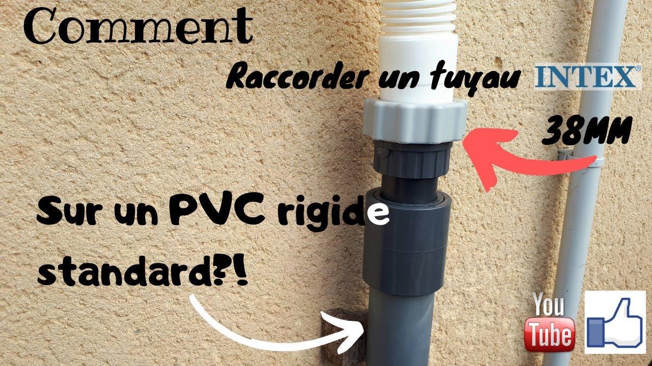 Raccorder Un Tuyau Intex 38mm A Pvc Rigide Youtube
