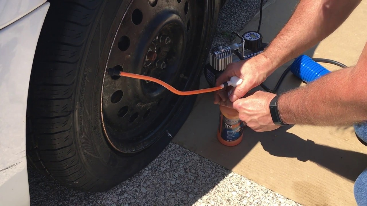 Fix a Flat Tire Using Tru-Flate TruSeal Tire Sealant