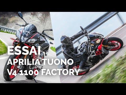 Essai moto Aprilia Tuono V4 1100 Factory (2019)