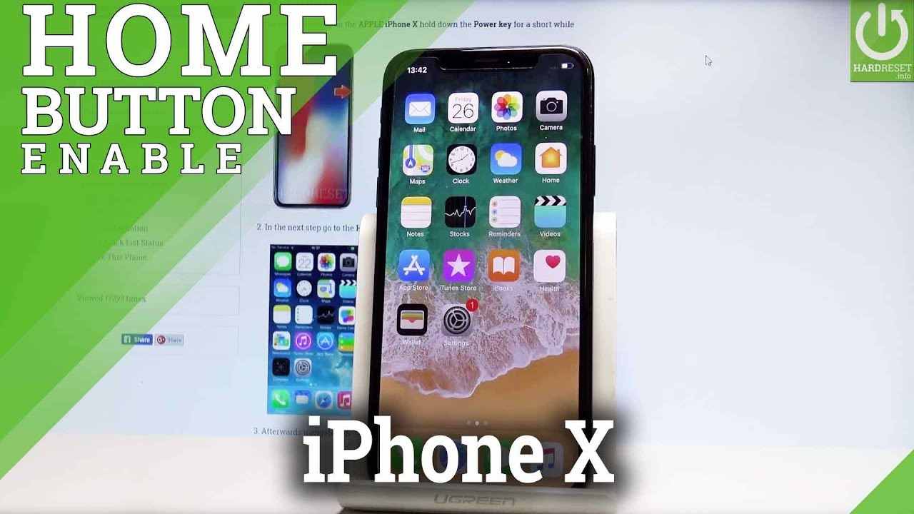 Enable Home Button in iPhone X - Create Virtual Home Button in iOS - YouTube