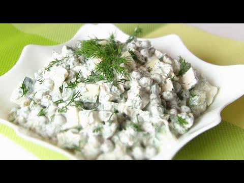 Легкий и быстрый салат без майонеза ЛЕДИ