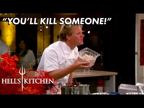 Gordon Stops LETHAL Mistake Over Rancid Crab Meat | Hell's Kitchen