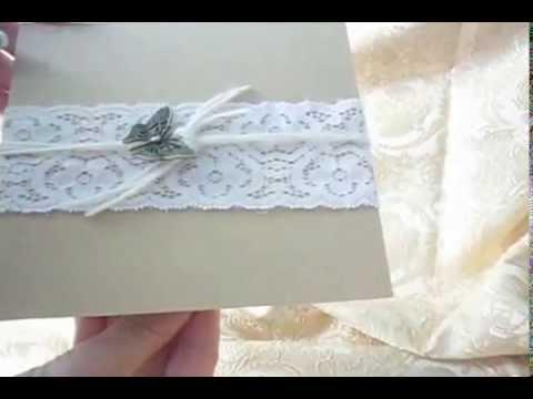 Invitatii Nunta Moderne Si Elegante Rustic Youtube