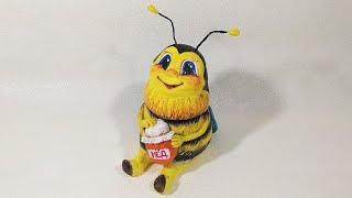 Пчёлка🐝🍯♥️из соленого теста своими руками.Как сделать пчелу. Мастер класс.DIY.