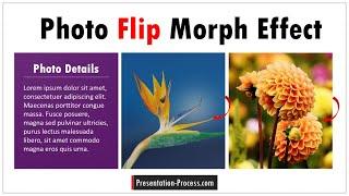 Photo Flip Effect using PowerPoint Morph Transition