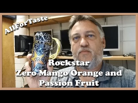 Energy Drink Project - Rockstar Zero Mango Orange and Passion Fruit