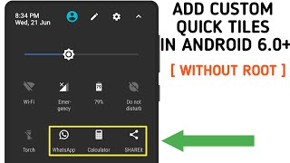 How to add custom quick setting