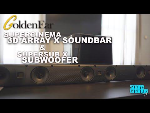 audiophile-soundbar!-goldenear-supercinema-3d-array-x-soundbar-&-supersub-x-home-theater-subwoofer
