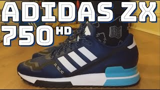 Видео ADIDAS ZX 750 HD REVIEW - On feet, comfort, weight, breathability and price review (автор: cowfreekicks)