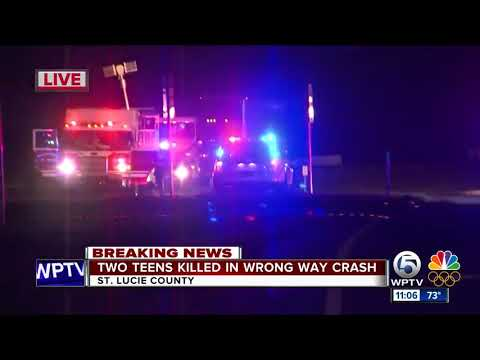 2 teens killed, 2 people injured in St. Lucie County wrong-way crash