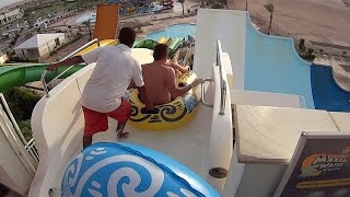 dangerous tsunami water slide at makadi bay
