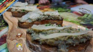 384 - Crostini nduja, crema di carciofi e pecorino sardo...e fu amore al primo sguardo (antipasto )!