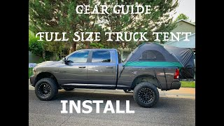 Guide Gear Full Size Truck Bed Tent - Setup How To