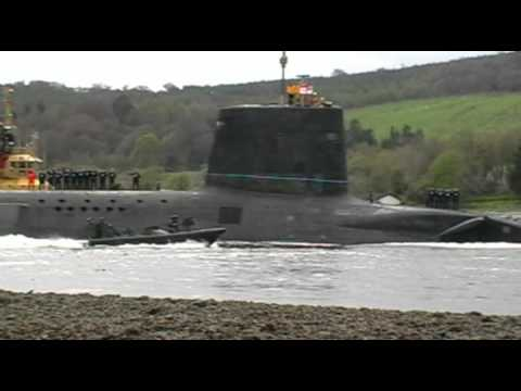 Trident submarine Faslane 16 April 2011
