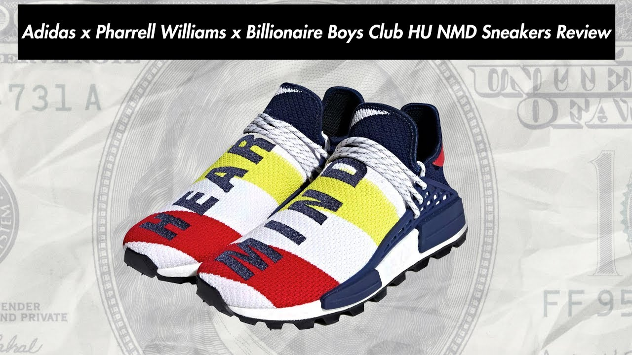3a04fe0633180 Adidas x Pharrell Williams x Billionaire Boys Club HU NMD Sneakers BB9544  Review