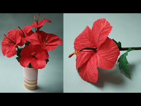DIY Easy Hibiscus Flowers and Vase For Home Decor | Craft Nifty Creations