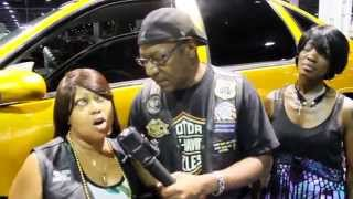 "Mitch Faulkner of Ride Out Nation with Da 32"" Divas at V103 Auto & Bike Show @ GWCC"