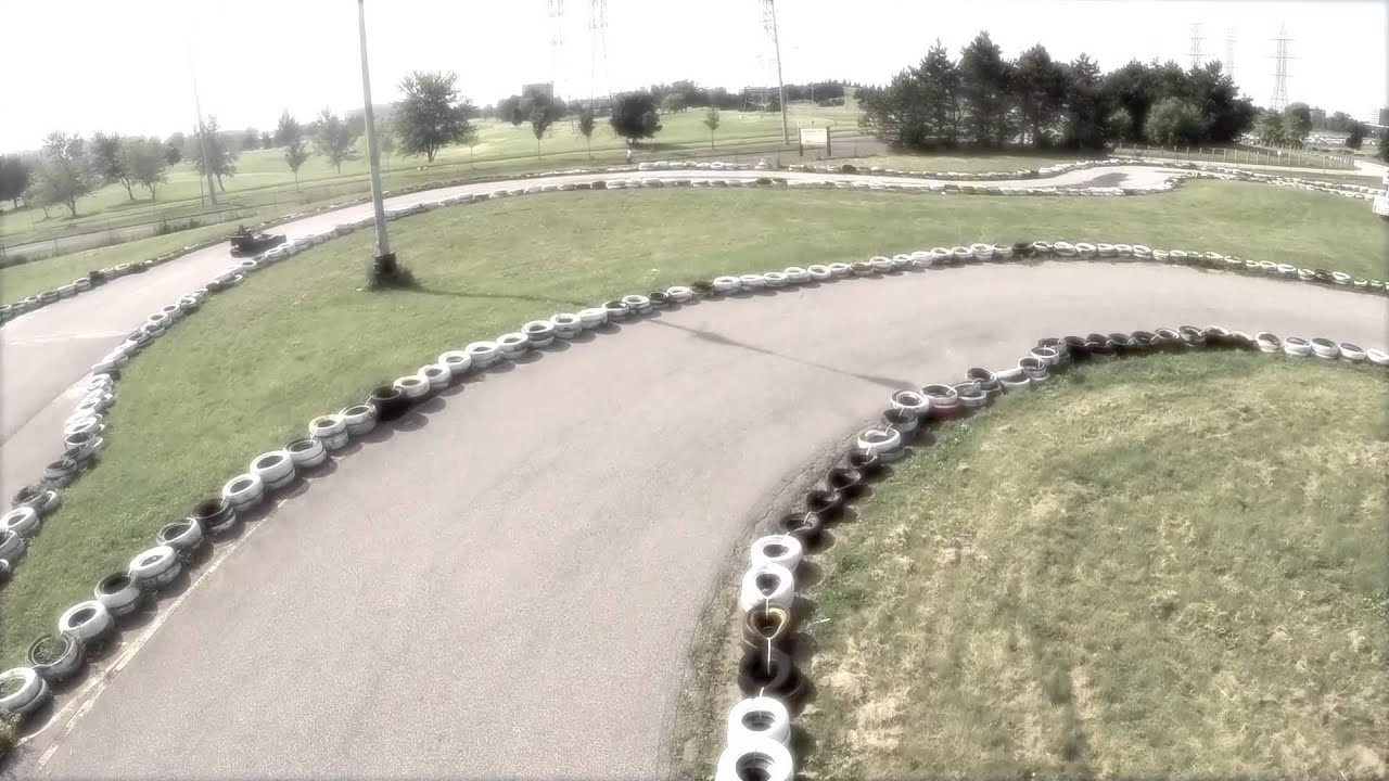 Go Kart Racing at the Mini Indy - Aerial Tour - YouTube
