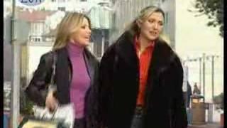 long leather coat lady