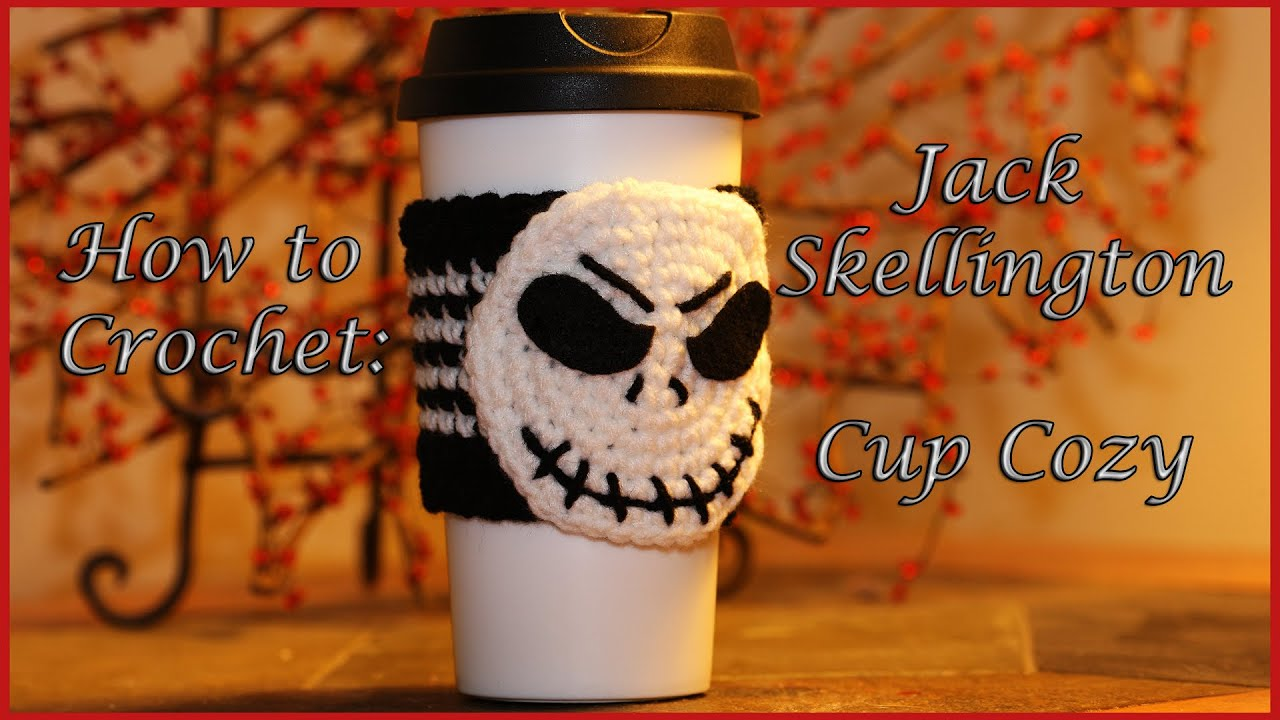 How to Crochet: Jack Skellington Cup Cozy - YouTube
