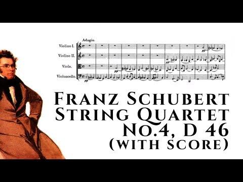 Franz Schubert - String Quartet No.4, D 46 (with score)