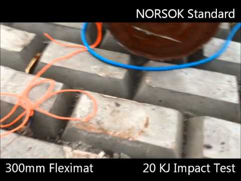Dropped Object test on SPS Concrete Fleximats