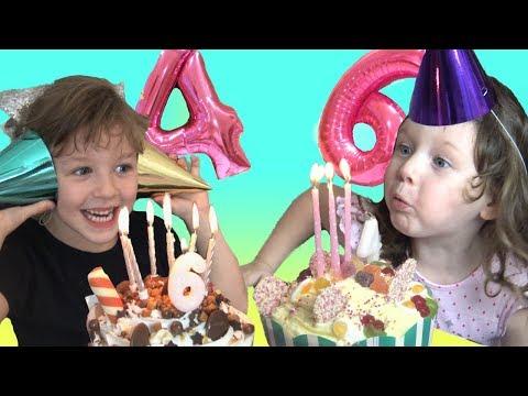 Isla and Olivia's BIRTHDAY Celebrations! Taking JoJo Siwa Toys to Mcdonalds + a Dance Party