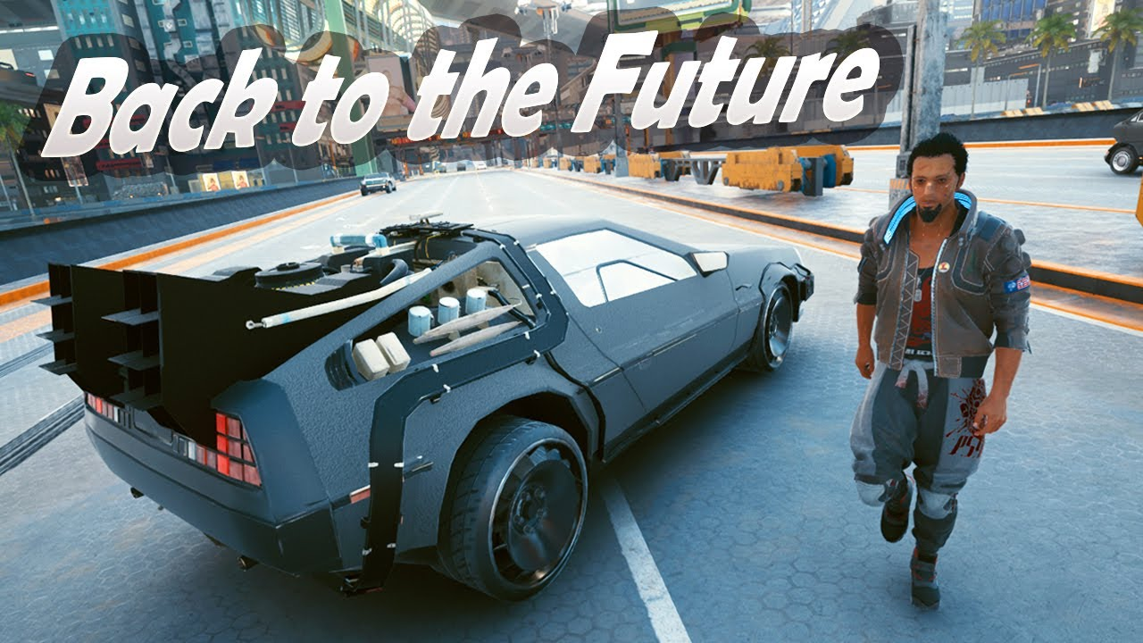 Back to the Future Delorean / CyberPunk 2077 Cars Mods