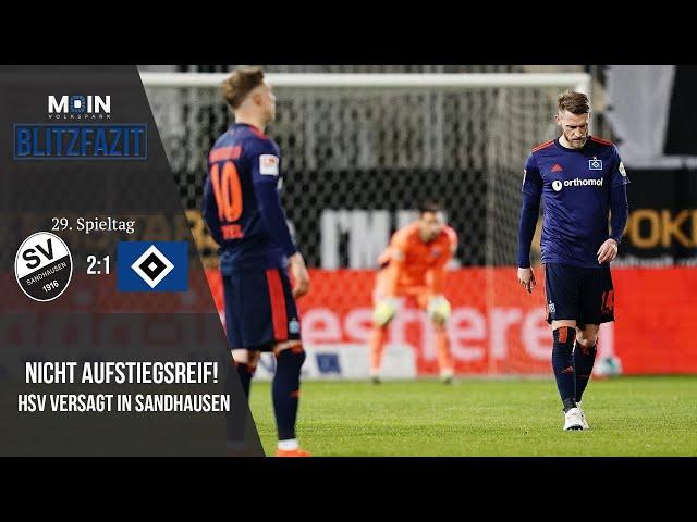 Scholles Blitzfazit zum Spiel | Sandhausen 2:1 HSV / Saison 20/21 | #016