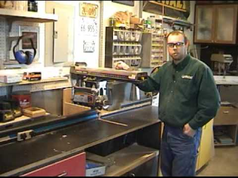 Radial Arm Saw Safety Amp Operation Youtube