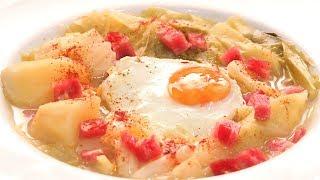 Sopa de Col o Repollo con Huevo   Receta muy Fácil y Rápida
