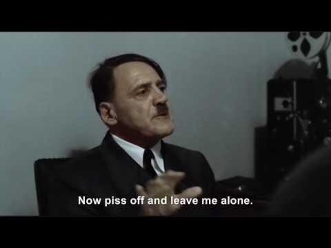 Hitler is informed he is Bruno Ganz