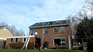 zonnepanelen installeren timelapse