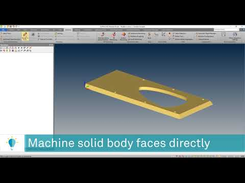 Machine Solid Faces Directly | ALPHACAM 2020.0